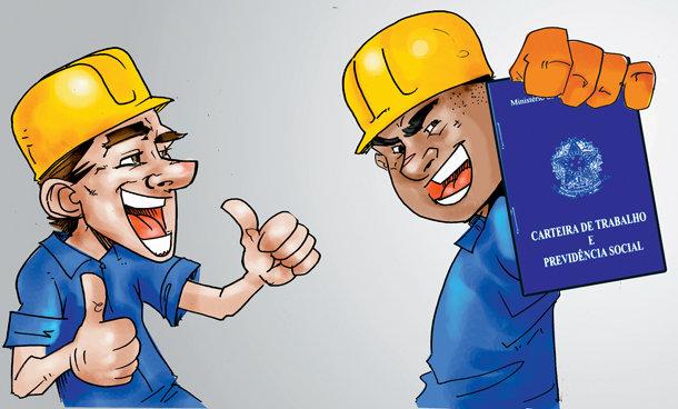 Vaga de emprego na construção civil