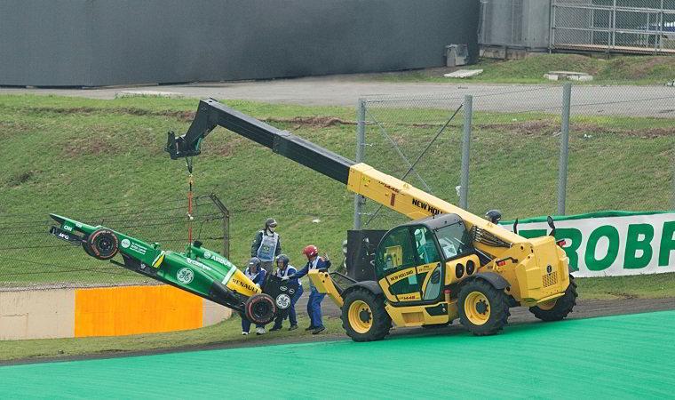 Manipulador telescópico New Holland LM1445 na Formula 2014 no Grande Prêmio do Brasil (GP Brasil) em Interlagos.
