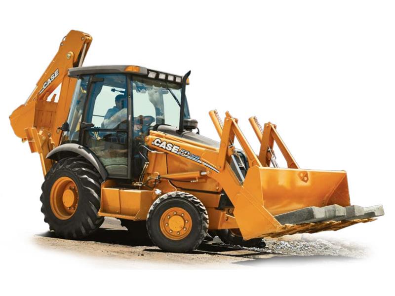 Retro-escavadeira Case 580M 4x4, uma das retroescavadeiras preferidas dos empresários brasileiros.
