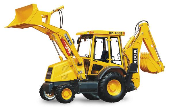 A retroescavadeira Randon RK-406B é sinônimo de potência, economia e confiabilidade.