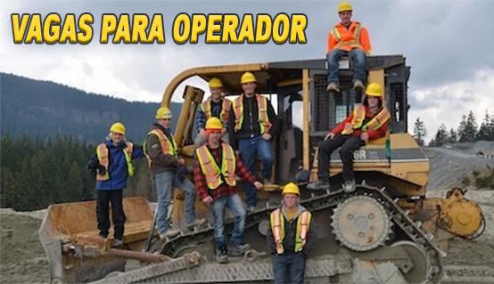 Vagas para Operador de Máquina Pesada
